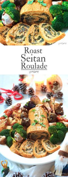 This stuffed roast seitan roulade is perfect for your vegan Christmas! | yumsome.com