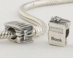 Sterling Silver Book Pandora Charms