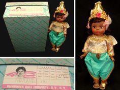 Vintage madame alexander doll-old thailand doll-madame alexander thailand doll-thailand girl doll-vintage thai doll by BECKSRELICS on Etsy