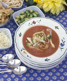 Classic Tortilla Soup with Havarti with Jalapeno