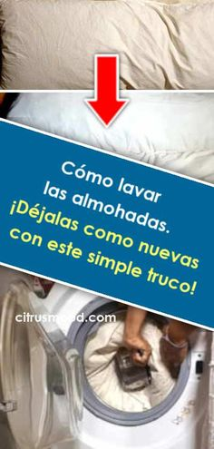 Cómo lavar las almohadas. ¡Déjalas como nuevas con este simple truco! Diy Cleaning Products, Cleaning Hacks, Power Clean, Home Hacks, All Quotes, Clean House, Keep It Cleaner, Household, How To Wash Throw Pillows