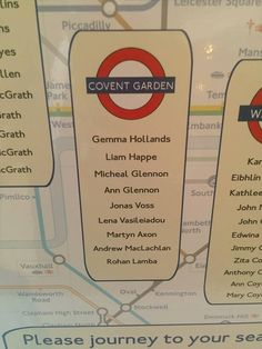 London Underground Wedding Table Plan by ZarasWeddingShop on Etsy
