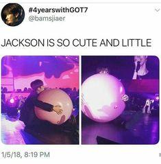Kawii little Jackson ahhhhh cutey♡ Bts Memes, Got7 Meme, Got7 Funny, Funny Memes, Funny Shit, Mark Jackson, Got7 Jackson, Jackson Wang, Yugyeom