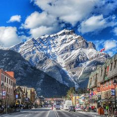 Casual backdrop for downtown #Banff in #Canada. Photo courtesy of mthiessen on Instagram.