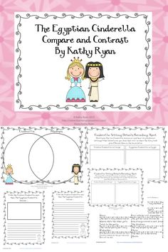 These three activities will help your student learn how to compare and contrast two versions of the Fairy Tale, Cinderella.     Activity 1--Compare and Contrast Venn Diagram--Students can use prepared sentence strips or write in their own ideas.    Activity 2--Opinion Writing--Students write an opinion piece describing which version of Cinderella they like.    Activity 3 Setting Details