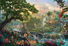 The Jungle Book - Thomas Kinkade - World-Wide-Art.com - $225.00 #Disney #Kinkade