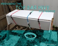 Insulating the Top Bar Hive for Winter | Love It Learn It Make It #beekeeping
