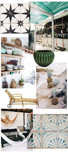 inspired by: tulum / bar swings - so cool Modern Bohemian, Boho, Bohemian Decor, Cuba, Interior Decorating, Interior Design, Beach Cottages, Trends, Inspired Homes