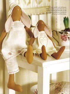 Пасхальные зайцы тильда: выкройки мягких игрушек для шитья