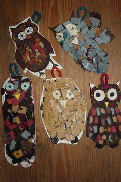 Homemade owls.