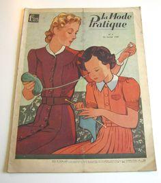 1930 La rivista francese dell'annata modalità Pratique gennaio 1939 WWII moda e cucito di Mrsdepew su Etsy https://www.etsy.com/it/listing/243854322/1930-la-rivista-francese-dellannata