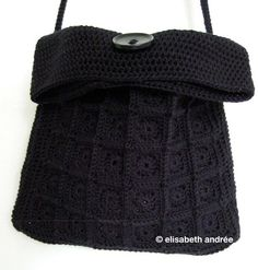 crochet mini-squares-little-black-bag - about crochet