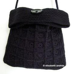 crochet mini-squares-little-black-bag - about crochet