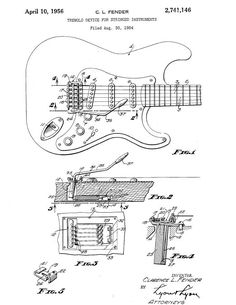 fender stratocaster guitar 1960 u0026 39 s patent art by