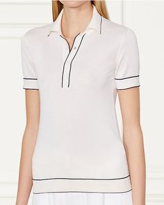 Two-Toned Silk Polo Shirt