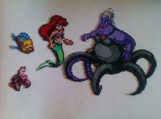 I personaggi di Ariel fatti interamente di perline: le pyssla