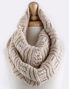 Cozying up with this infinity scarf this winter.