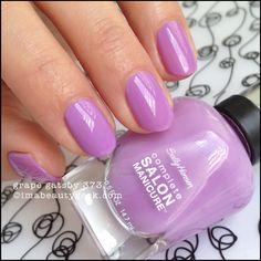 Sally Hansen Grape Gatsby - Complete Salon Manicure. See lotsa swatches at imabeautygeek.com