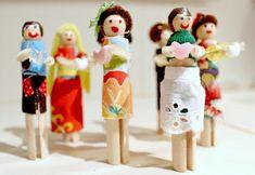 Cool Clothespin Doll DIY Valentines | AllFreeKidsCrafts.com