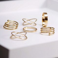 Gold Boho Rings (6 Piece Set) - Rebel Style Shop - 1