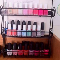 12 Section Acrylic Nail Polish Riser | Container Store, Organizing And  Organizations