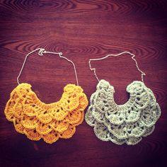 Necklace #handmade #crochet #Knitting #necklace