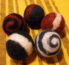 felt toy balls set of 5 waldorf toy by wanderingsheep on Etsy