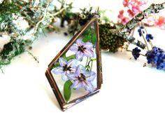 Flower locket necklace. Australian wildflowers. Locket necklace. Real flower jewelry, Botanical jewellery. Nature jewellery. Flower necklace