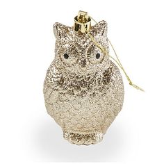 Gold Glitter Owl Ornaments, 5-Pack at Big Lots. The owl symbolizes wisdom, and there's nothing smarter than saving money on beautiful things.
