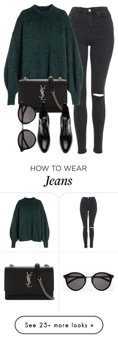 """Untitled #7095"" by laurenmboot on Polyvore featuring Topshop and Yves Saint Laurent"