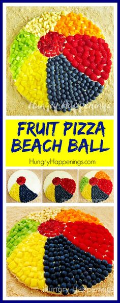 Fruit Pizza Beach Ball. This is a great dessert to make for a pool party or beach party.