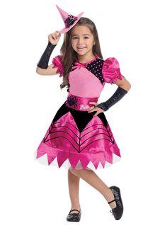 Disfraz de bruja barbie para niña   Comprar online