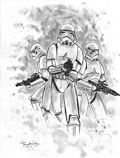 Imperial Storm Troopers by Ben Templesmith, via Flickr