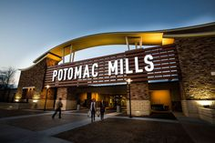 Potomac Mills is Virginia's largest outlet mall and features an indoor shopping experience with over 200 stores