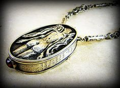 Angel with Wings Sterling Silver Locket Statement by BirchLight, $8028.00