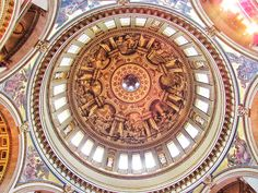 The dome at St. Paul's cathedral! It was such a breathtaking place.