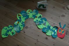 What a great idea - have each child decorate an oval and make one long caterpillar!