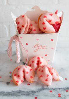 DIY Valentine's Day Heart Fortune Cookie Recipe