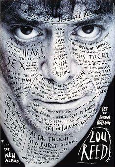 My Idol! 1996 / Stefan Sagmeister / Poster for Lou Reed Stefan Sagmeister, Sagmeister And Walsh, Stoner Rock, Hard Rock, Rockabilly, Heavy Metal, Cd Cover Design, New Wave, Foto Art