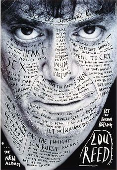 1996 / Stefan Sagmeister / Poster for Lou Reed