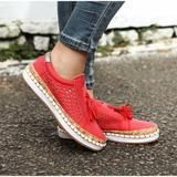 Women Slip On Hollow Out Flats Ladies Breathable Loafers Casual Platform Vulcanized Sewing Sneakers Shoes Clothing Sites, Ladies Slips, Nike Air Force, Shoes Sneakers, Loafers, Platform, Slip On, Flats, Fitness