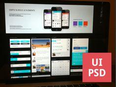 Clean UI Kit (Free PSD)