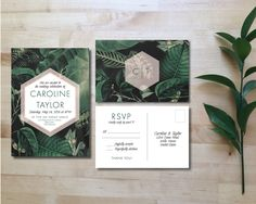 Printable Wedding Invitation Set Wedding by HeraPaperGoods
