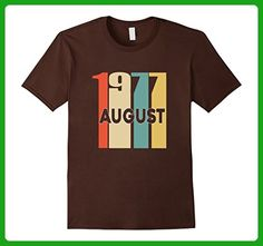 Mens Retro Vintage 1977 Born in August 40th Birthday Tshirt Large Brown - Birthday shirts (*Amazon Partner-Link)