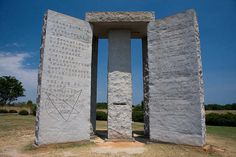 Mysterious Monuments in America: the Georgia guidestones serve as 10 commandments for the future generation of the Age of Reason.