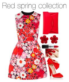 """Red spring collection"" by shaelyn188 on Polyvore featuring Victoria, Victoria Beckham, Lipsy, Givenchy, Chanel and MAC Cosmetics"