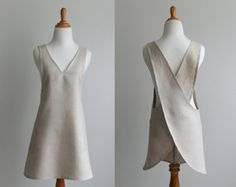 Crossback Apron Sewing Pattern PDF - The BACK WRAP- Instant Download Sewing Pattern #124 - Sizes Small, Med, Large, XLarge (0-18)
