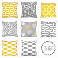 Kombinationsmöglichkeiten gelb grau grafisch