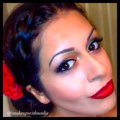 Flamenco dancer makeup follow @makeupwithnadia on Instagram Spanish Dancer, Flamenco Dancers, Hair Makeup, Hair Beauty, Photo And Video, Mexican, College, Inspired, Instagram