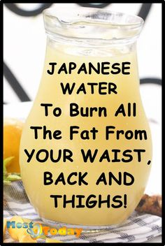 Japanese Water To Burn All The Fat From Your Waist, Back And Thighs! - apanese Water To Burn All The Fat From Your Waist, Back And Thighs! This is a safe and fast fat bur - Weight Loss Drinks, Weight Loss Smoothies, Best Weight Loss, Losing Weight, Weight Gain, Weight Loss Tips, Diet Drinks, Healthy Drinks, Healthy Detox